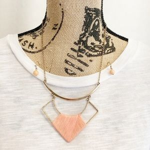 Jewelry - 💥New💥Coral Yarn Wrapped Collar Necklace